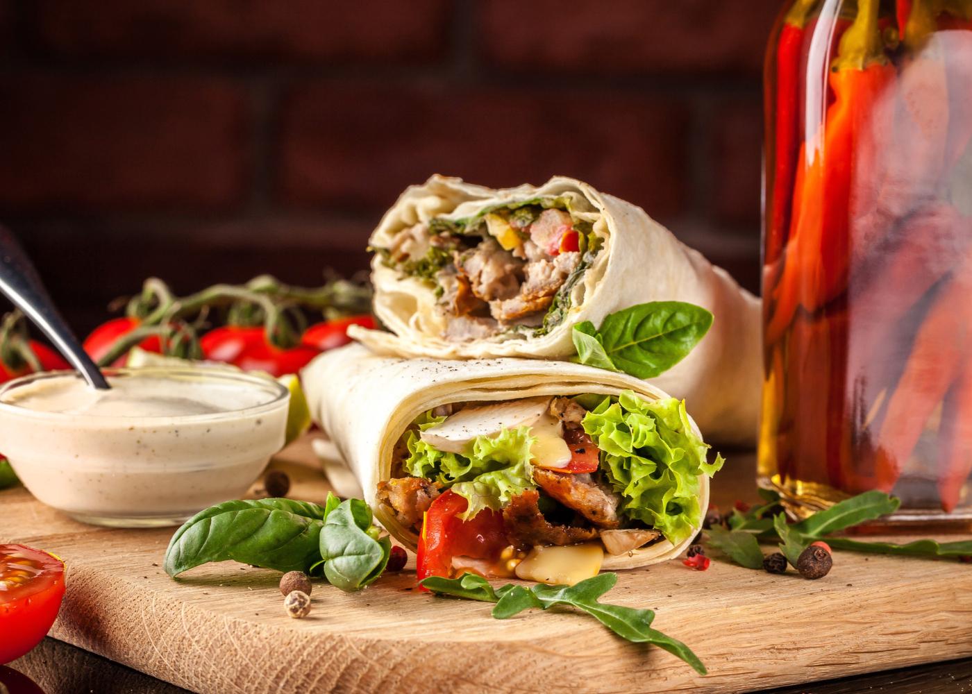 wraps de frango: 4 receitas imperdiveis
