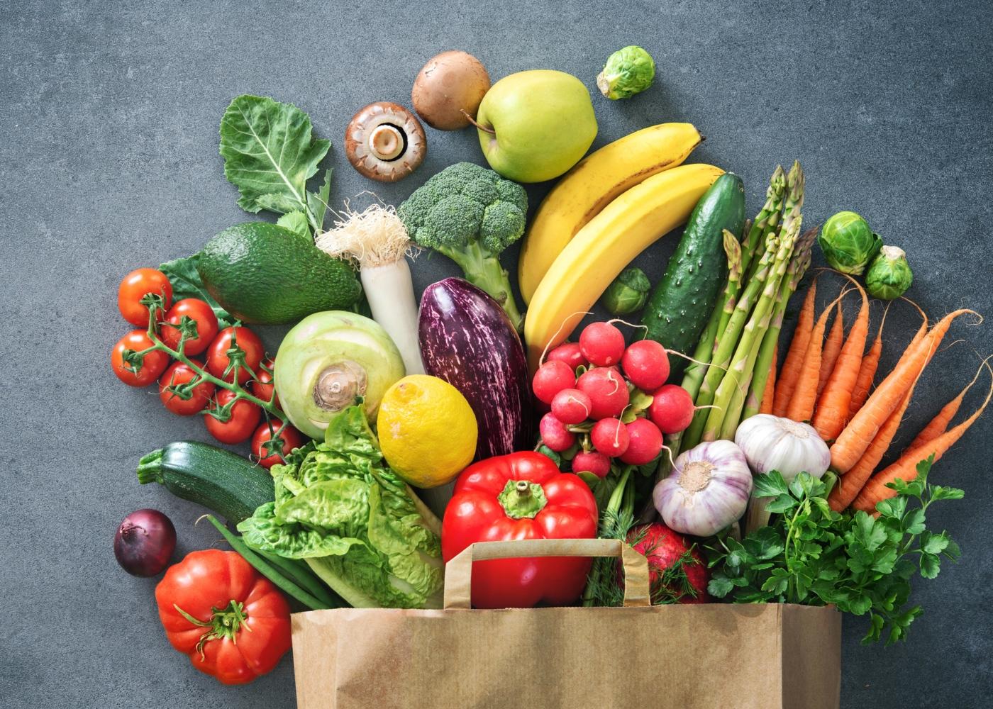 Variedade de alimentos biológicos
