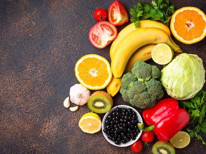 Sugestões de alimentos ricos em vitamina C