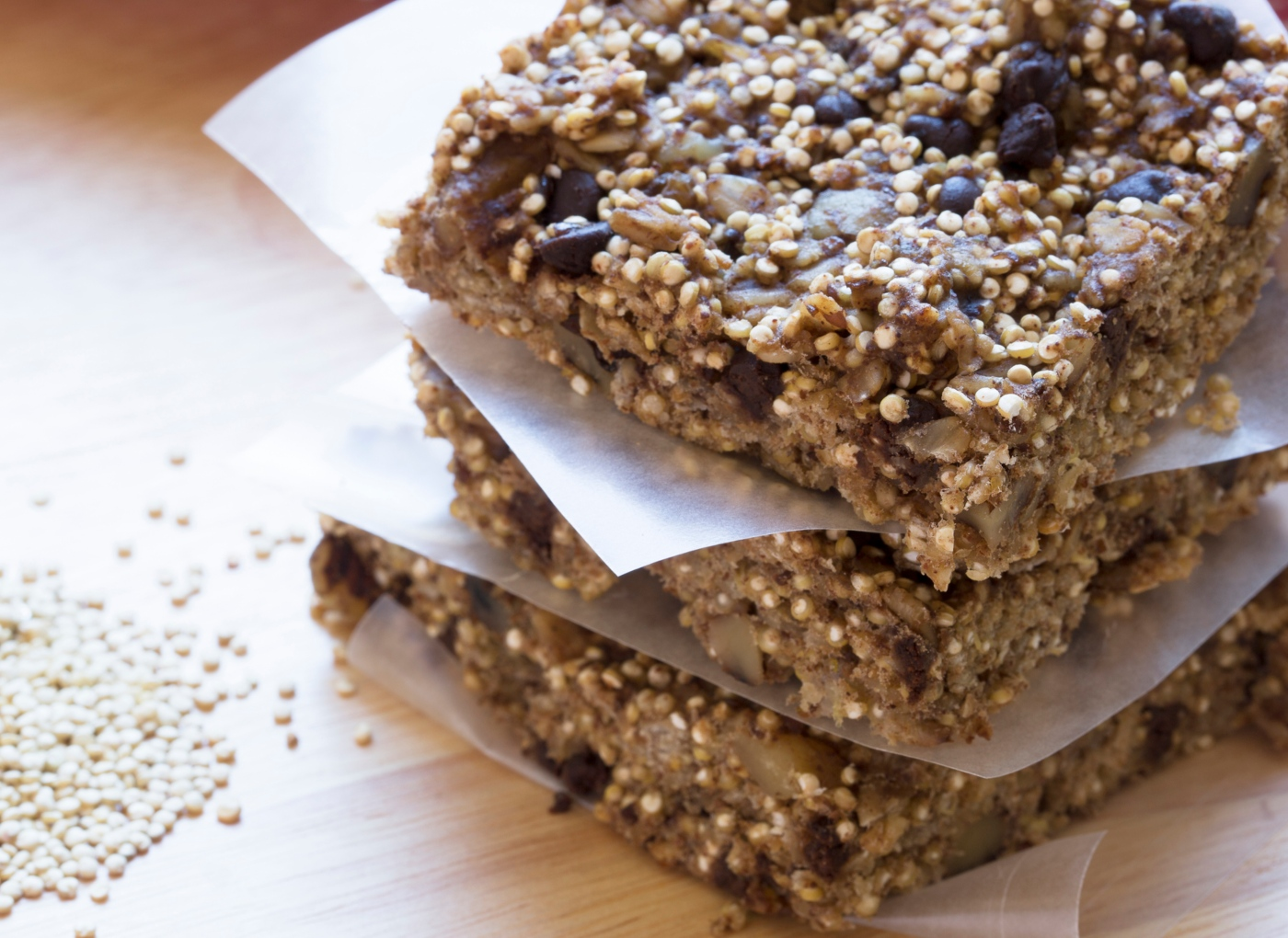 Receitas doces de quinoa: barritas