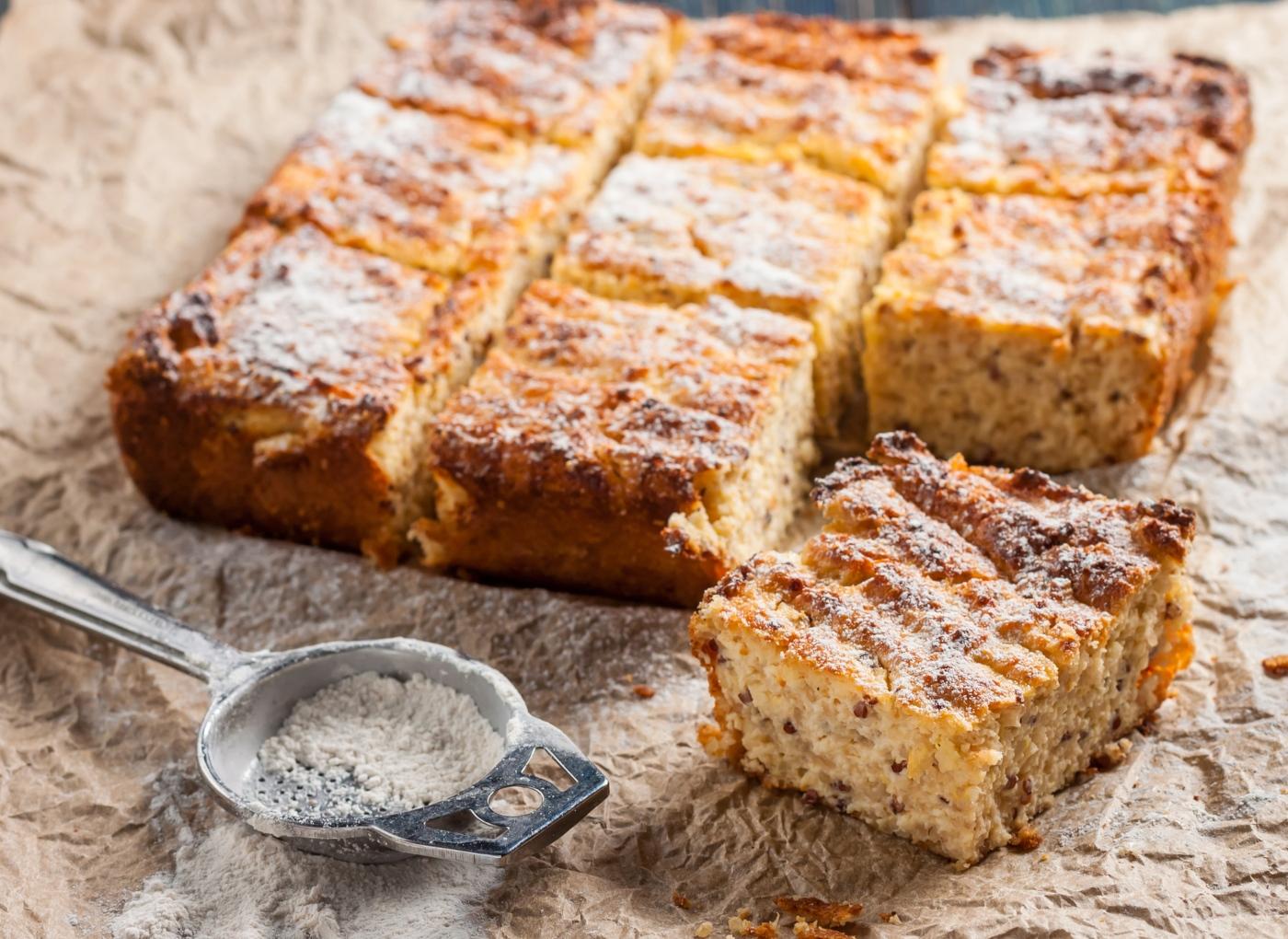 Receitas doces com quinoa: bolo de quinoa e laranja