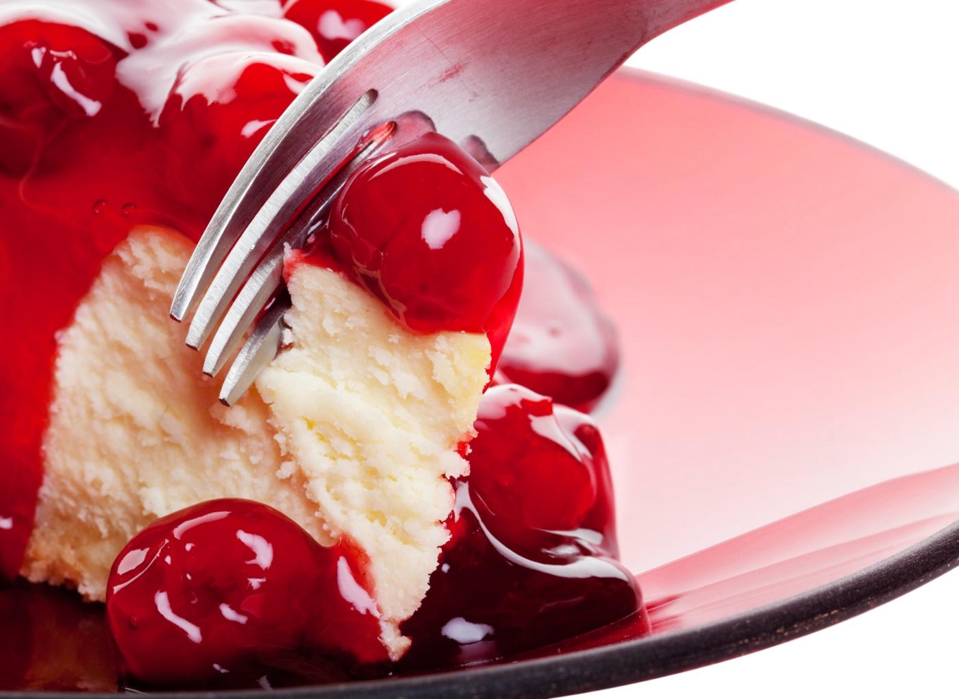 Cheesecake de cereja simples