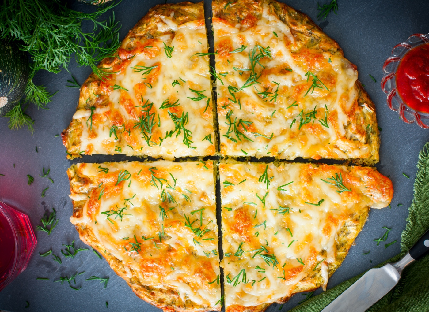 Receitas de massa de pizza à base de legumes