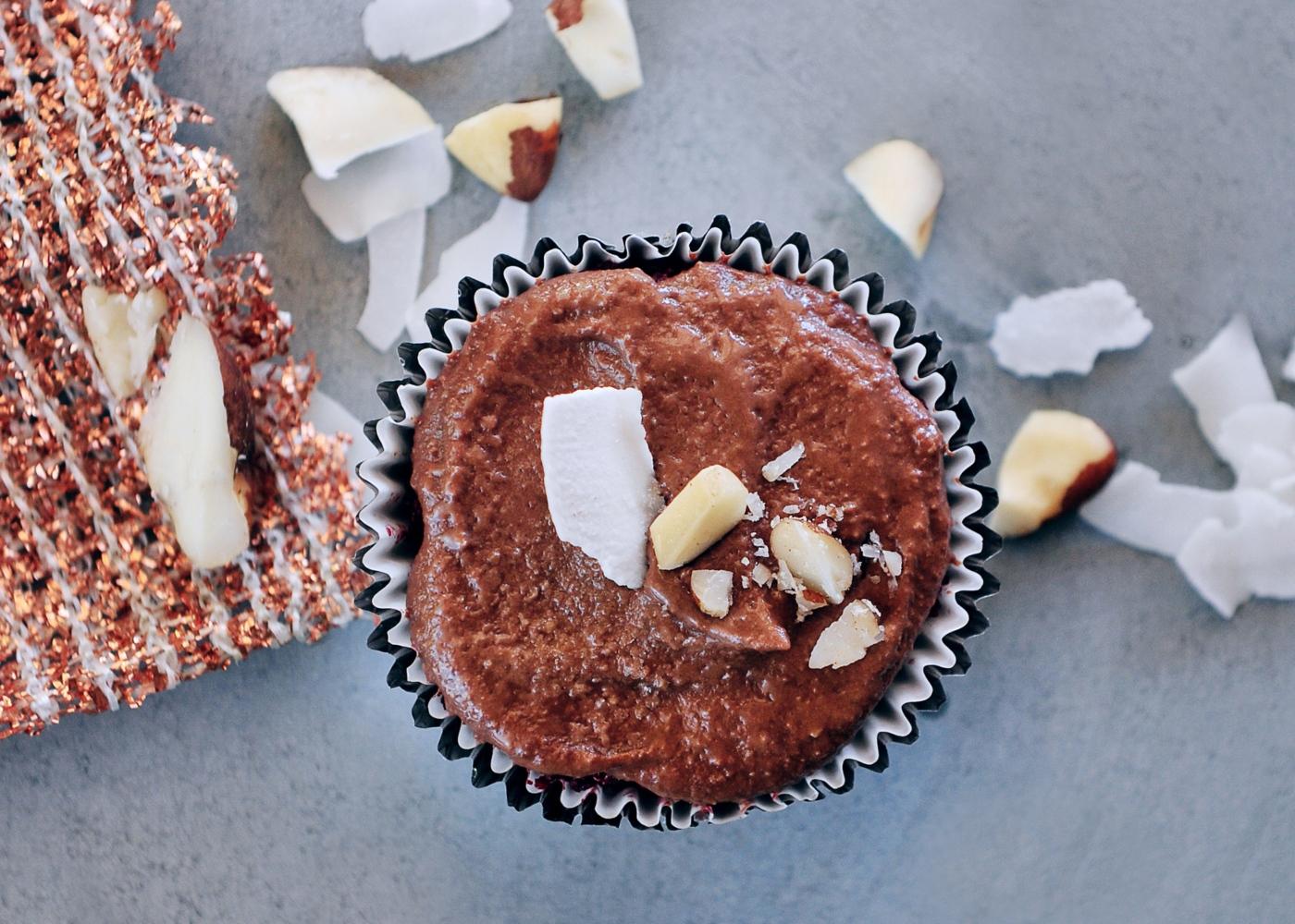 Muffins de chocolate vegan com farinha de espelta