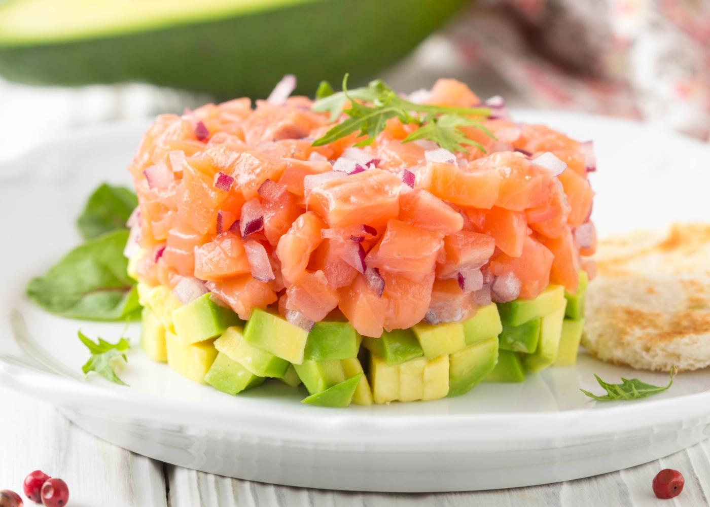 Tártaro de salmão simples