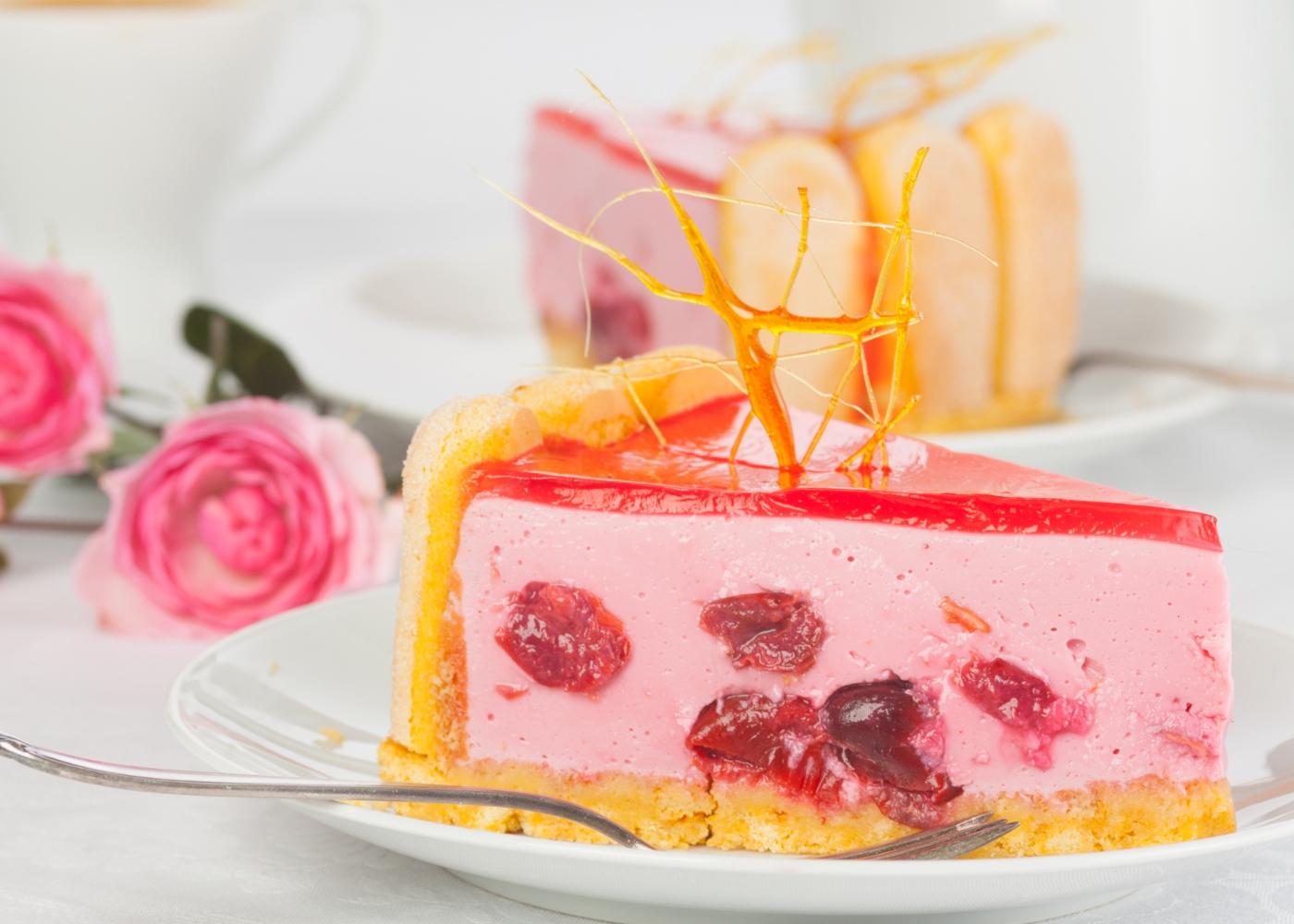 Tarte de cereja com iogurte