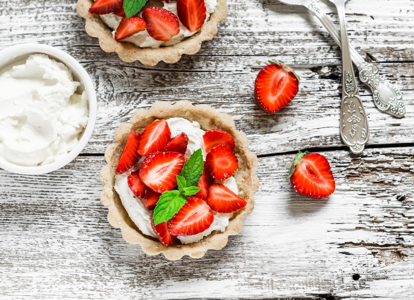 receitas de tarte de morango para sobremesa