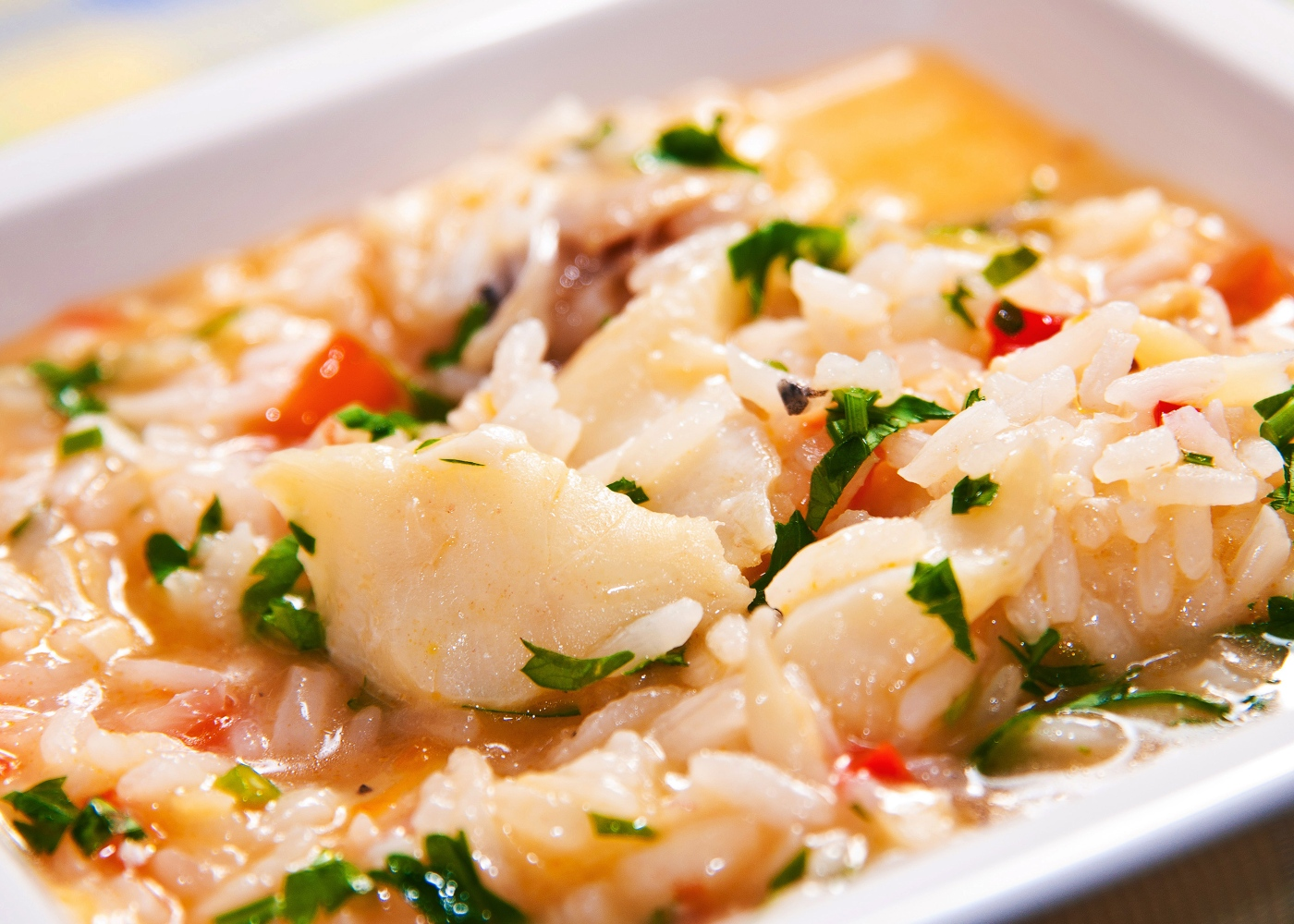 receitas saudáveis para quarentena: arroz de pescada