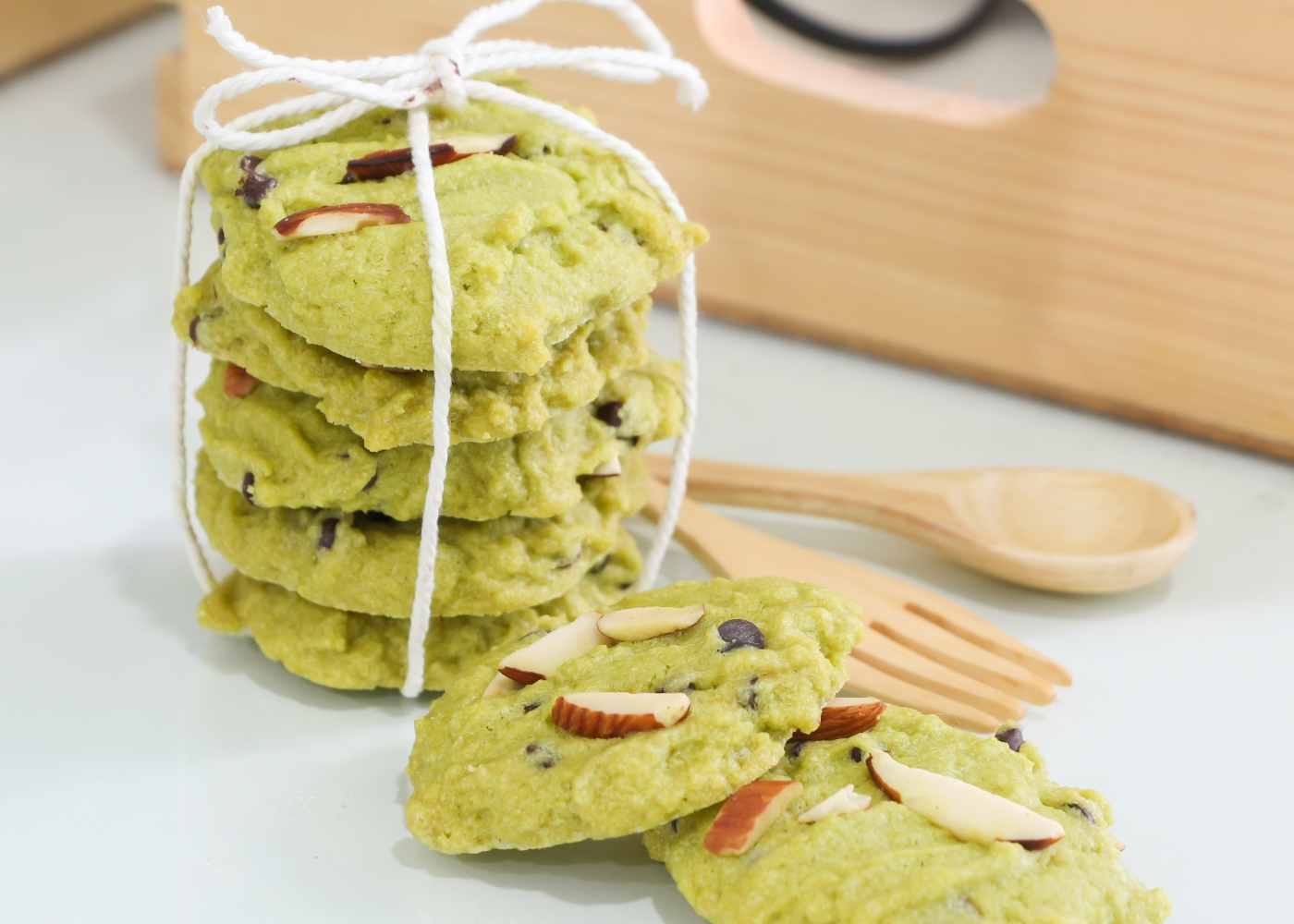 Bolachas de pistachio simples