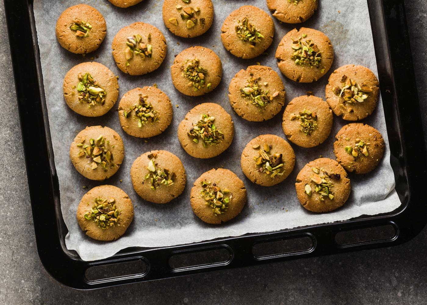 Bolachas de pistachio vegan