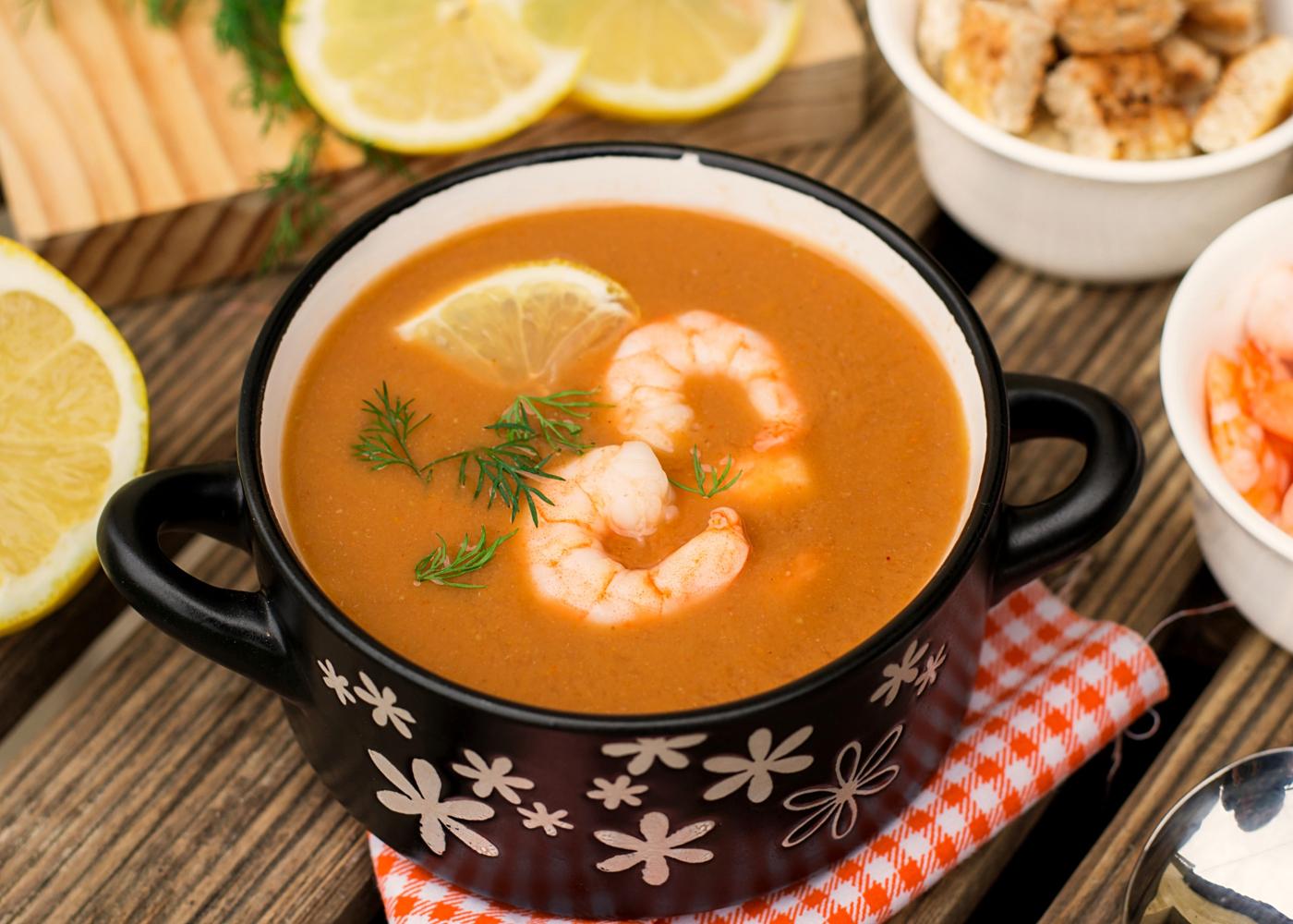 caldo de peixe com camarão