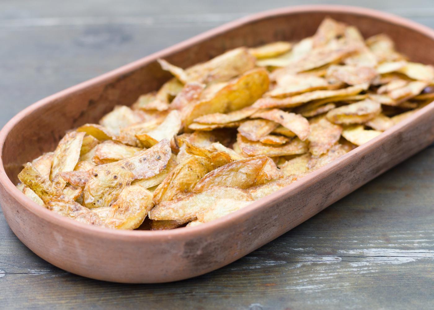 casca de batata assada no forno