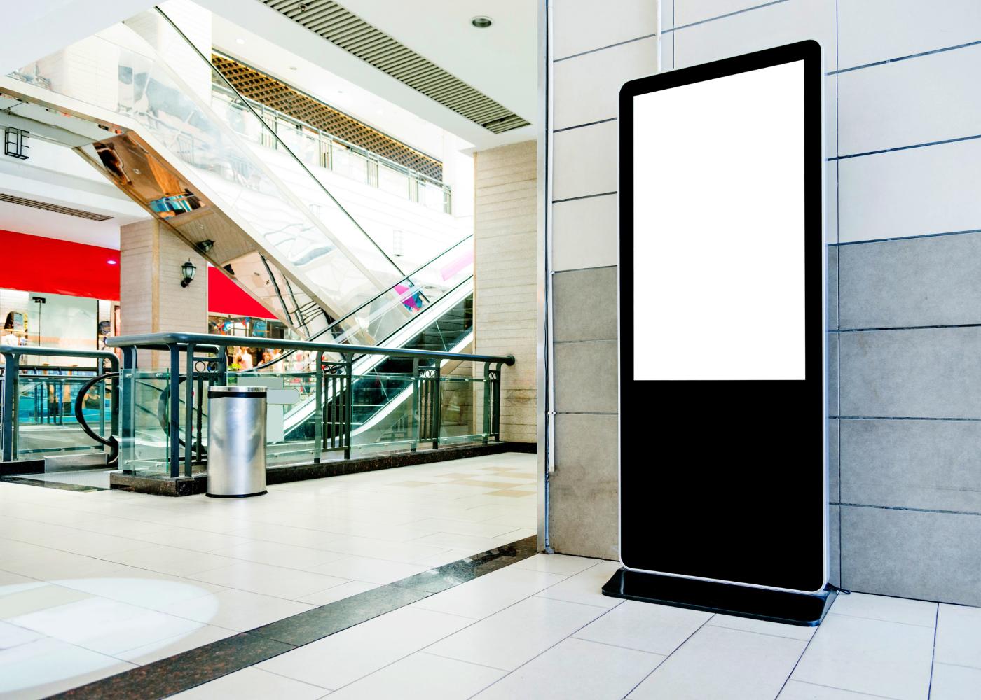 centro comercial sem visitantes