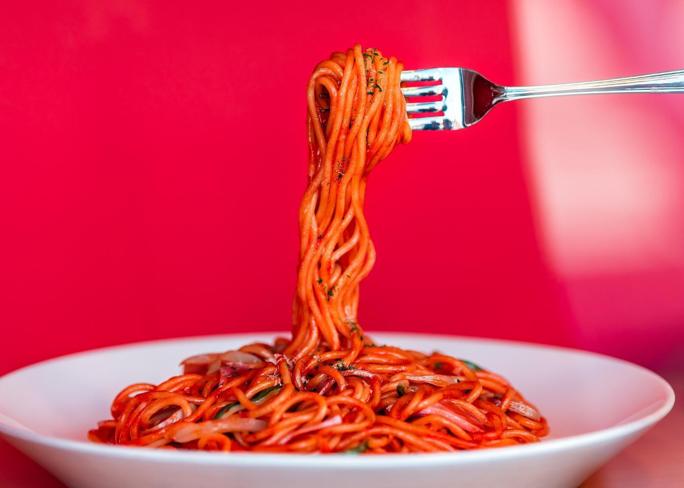 esparguete de beterraba