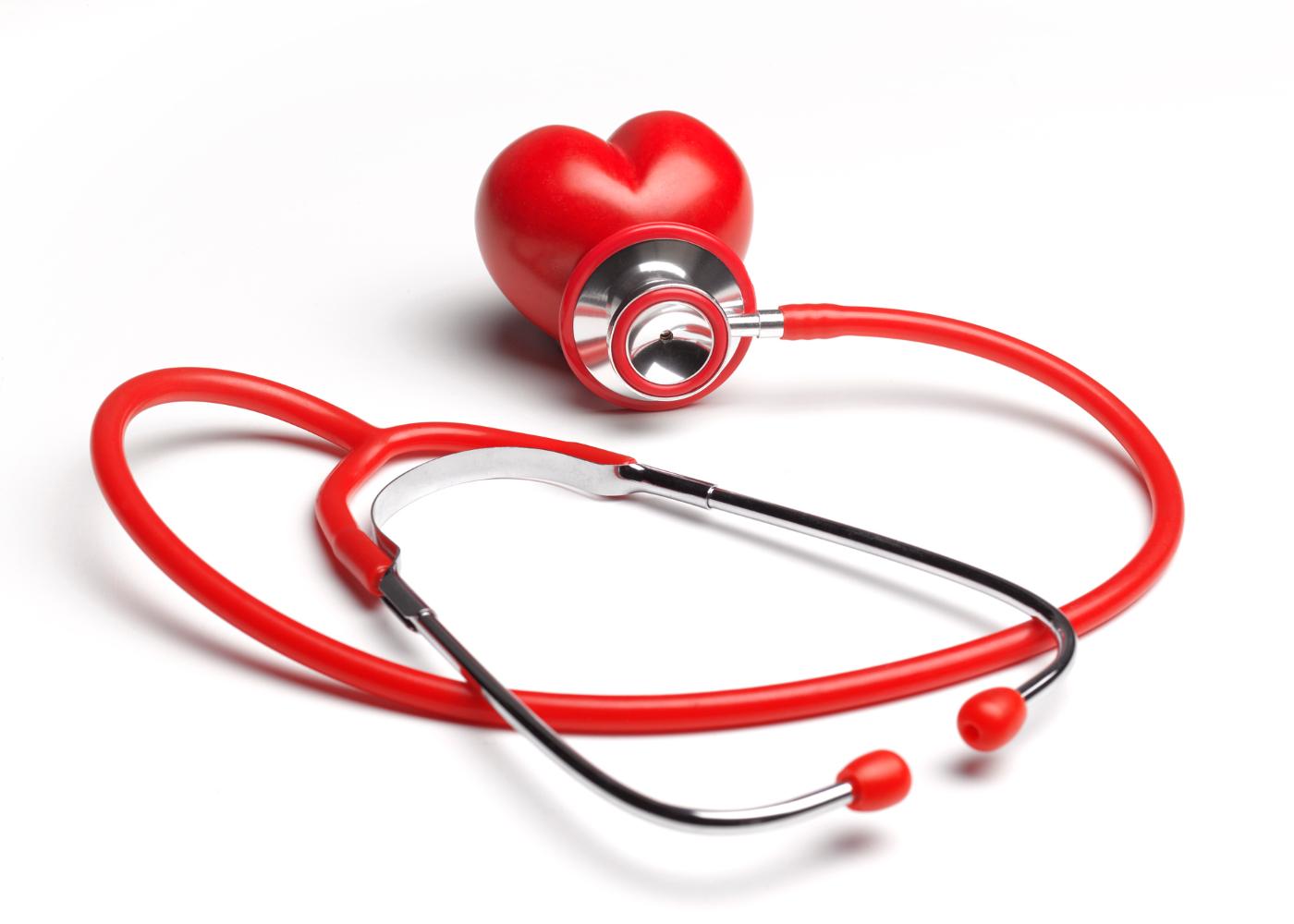 estetoscópio e coração