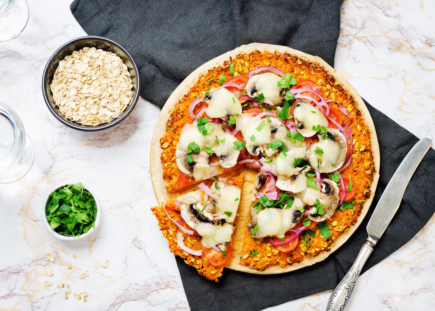 massa de pizza de farinha de arroz