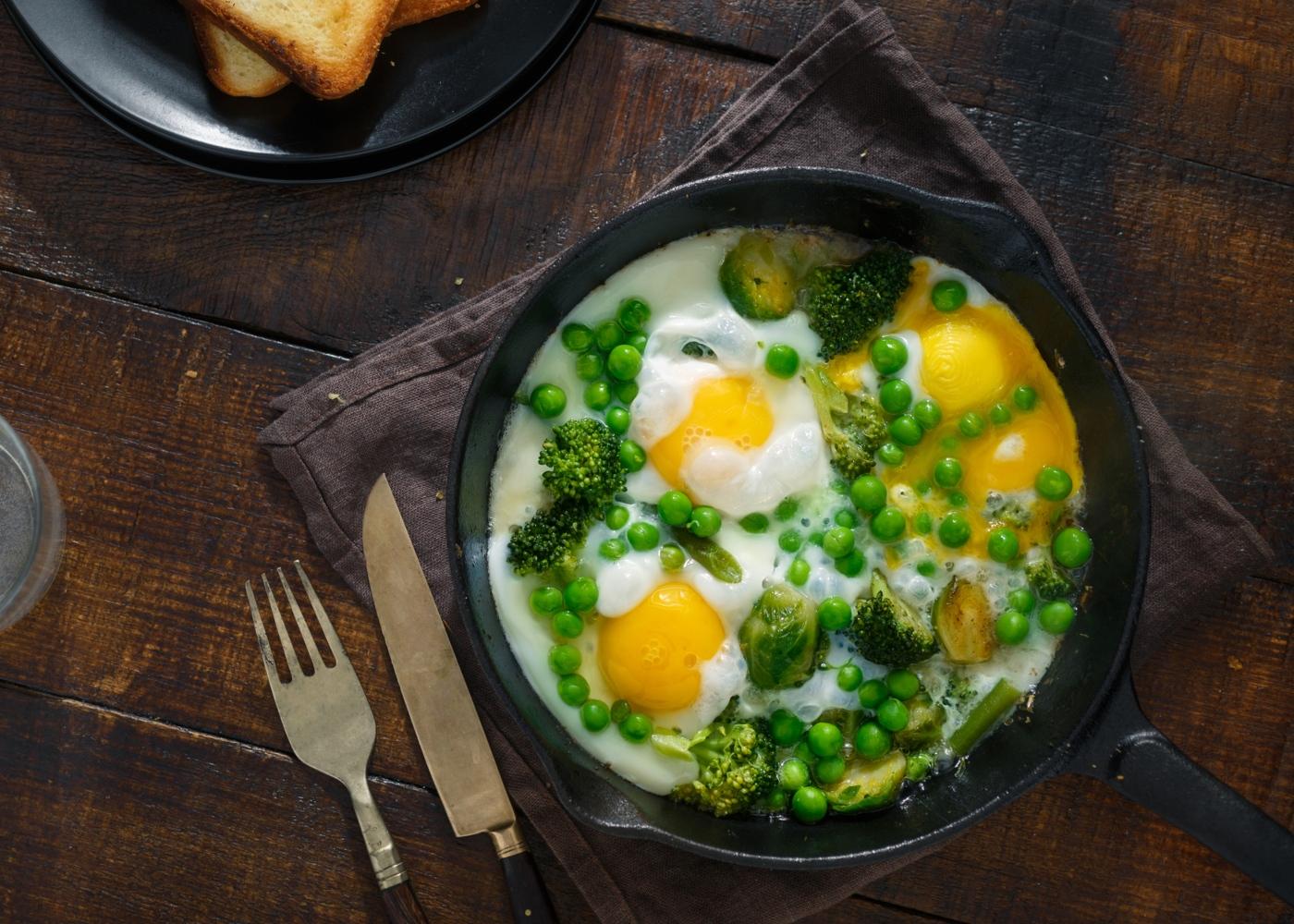 Formas de comer ovo cozido: ovos escalfados