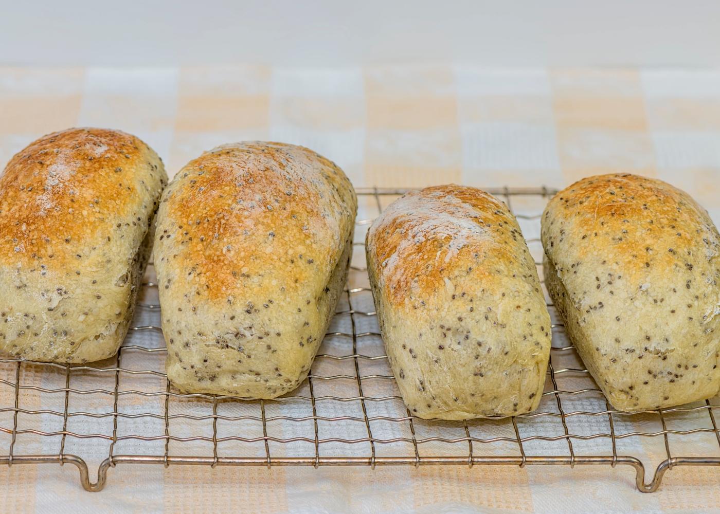 Pão de espelta com aveia e sementes de chia