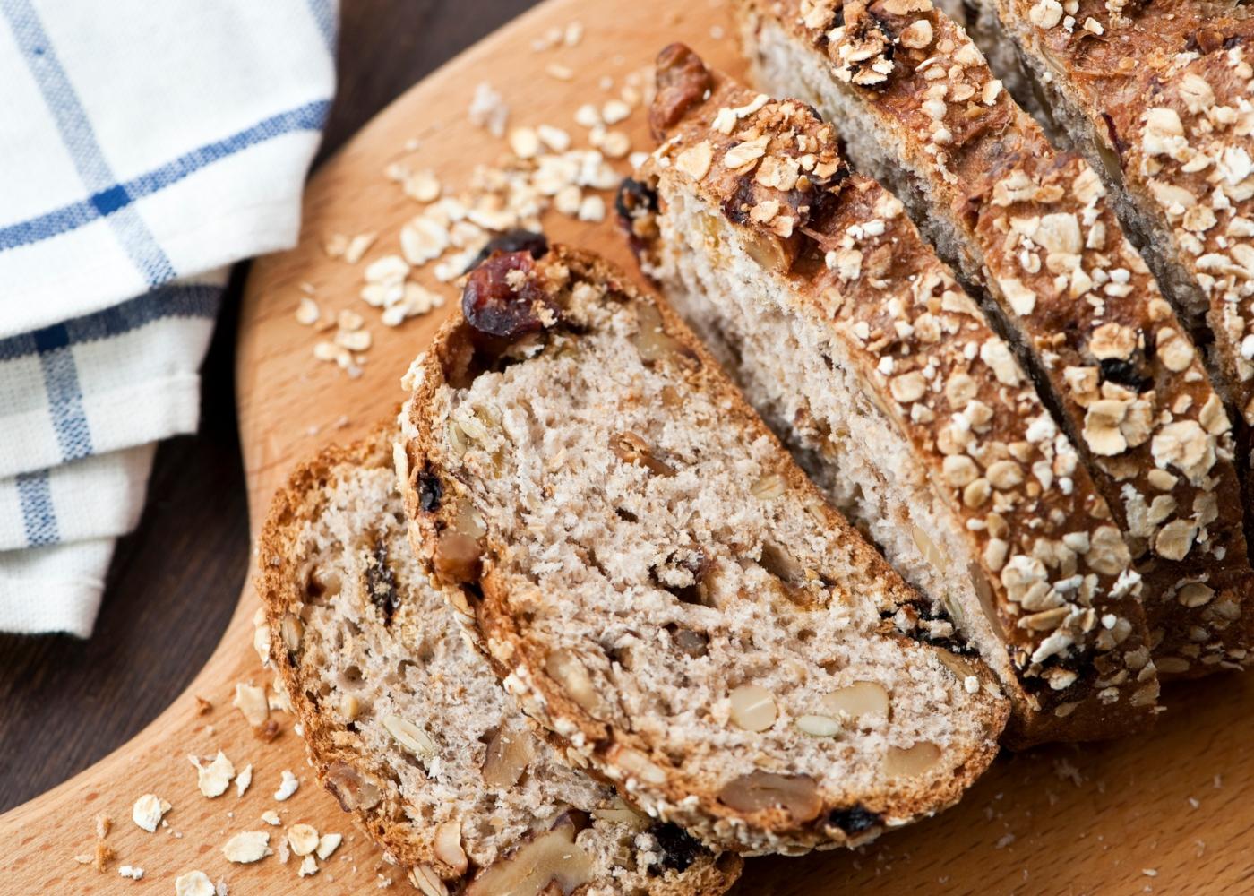 Pão de espelta com sultanas
