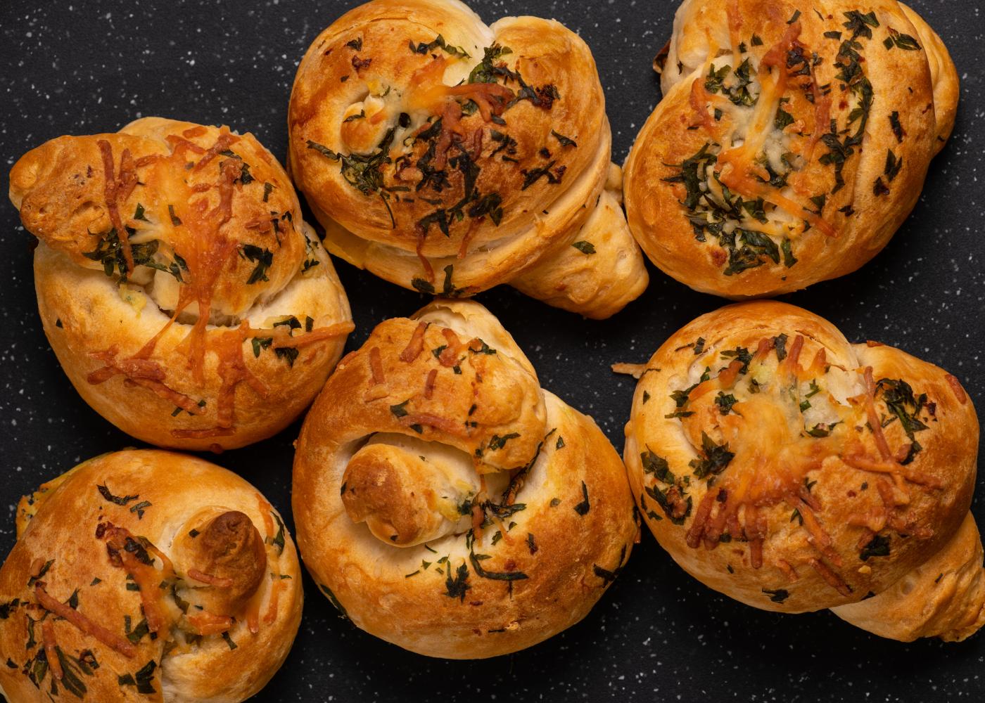 bolas de pão de alho