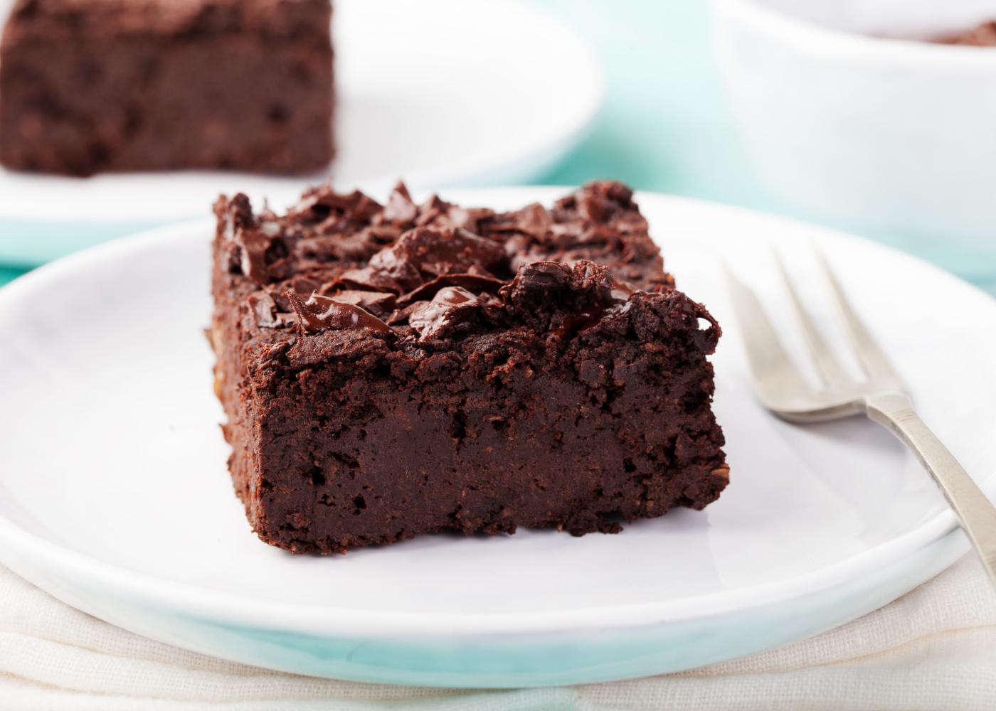brownie de chocolate e beterraba