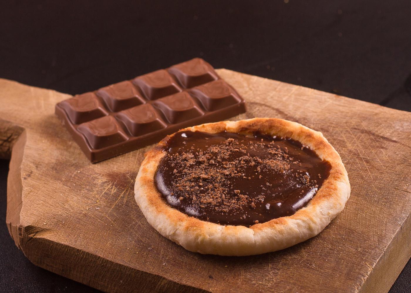 pizza com chocolate
