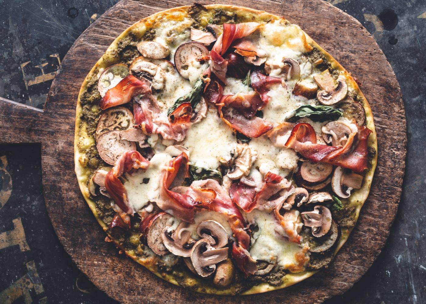 Como fazer massa de pizza com beringela