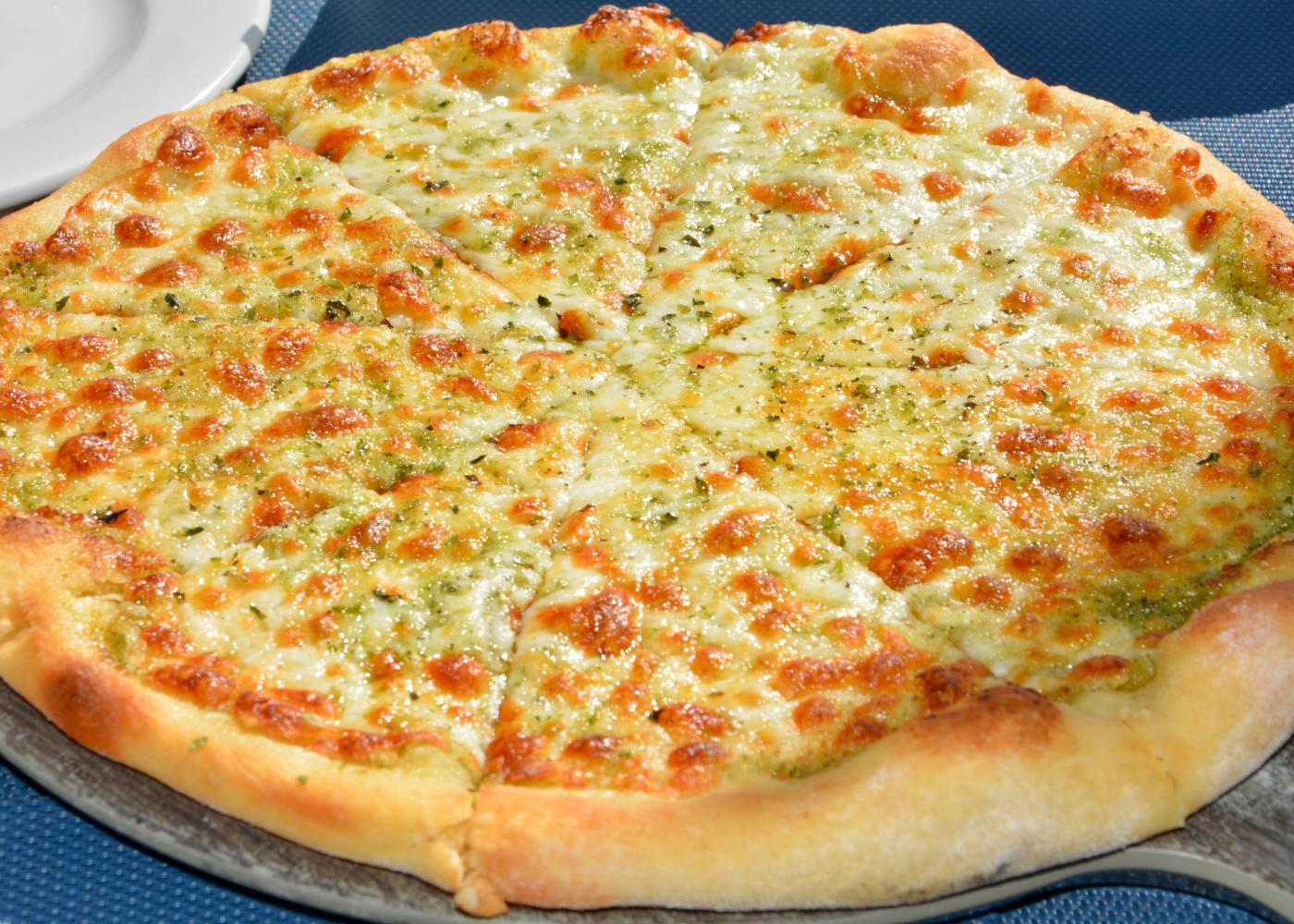 pão de alho com massa de pizza