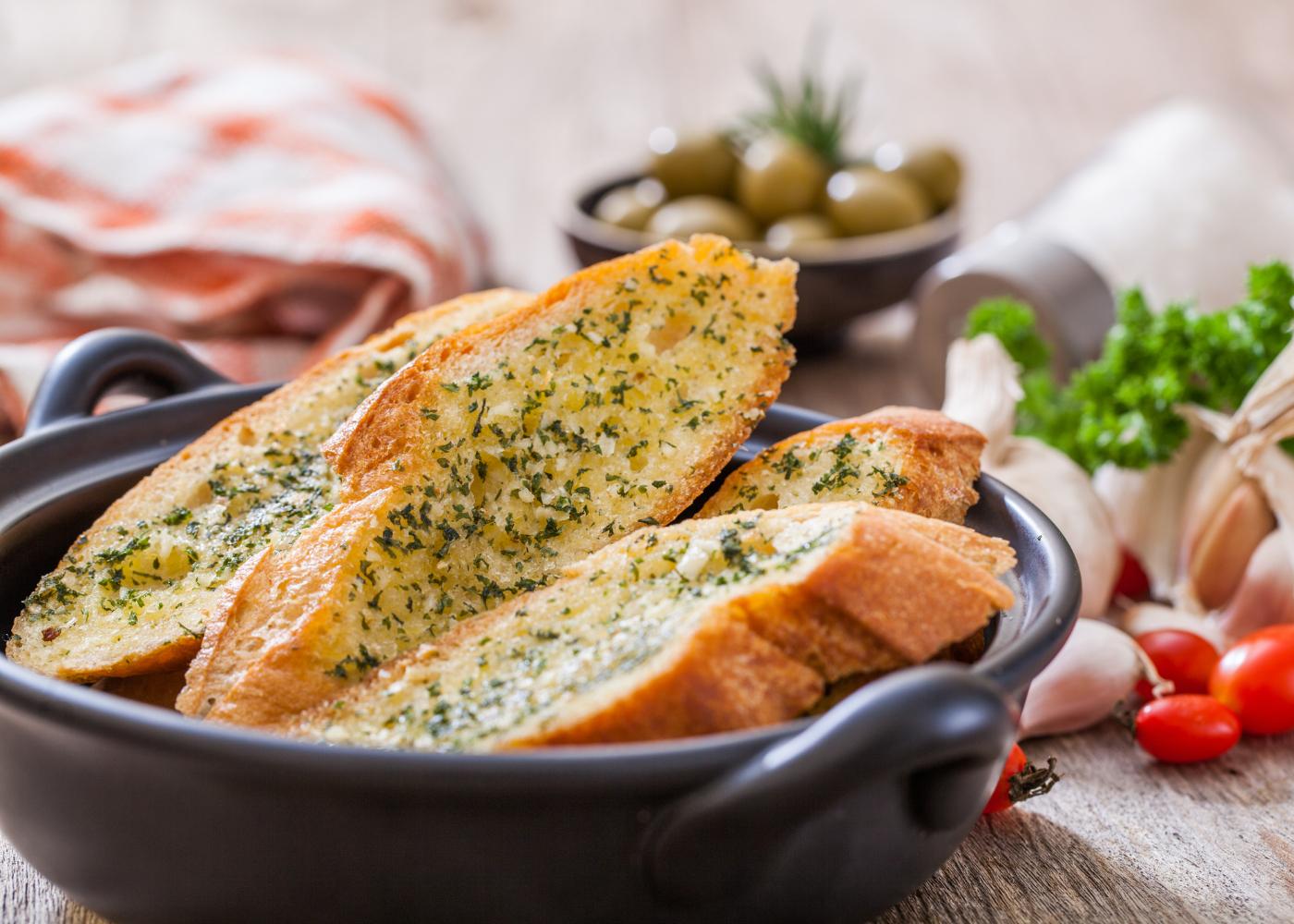 pão de alho de carcaça