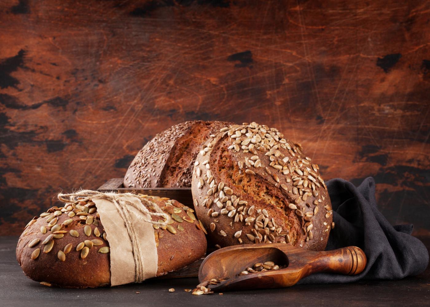 pão de centeio de aveia