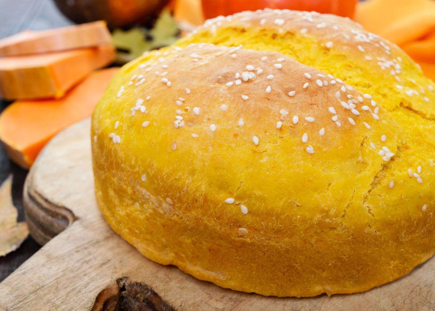 pão sem glúten de laranja e linhaça