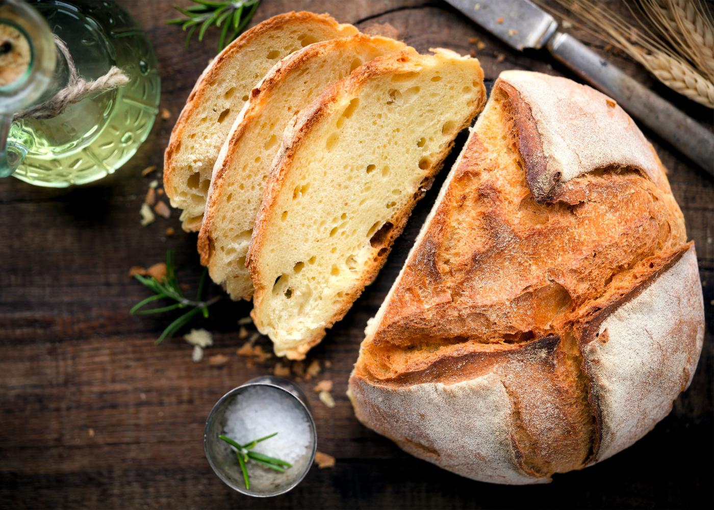 pão sem glúten simples