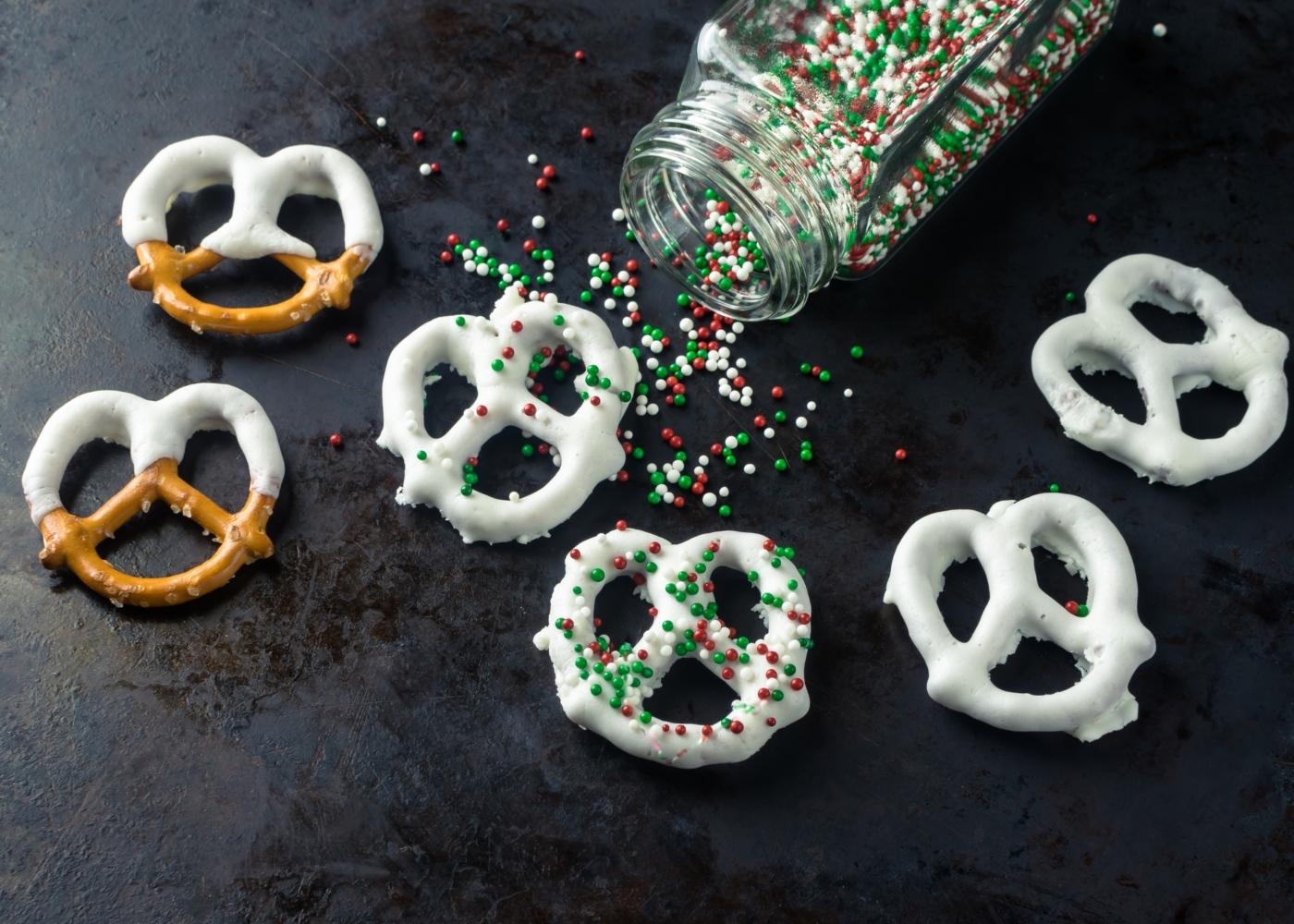 Pretzels doces decorados
