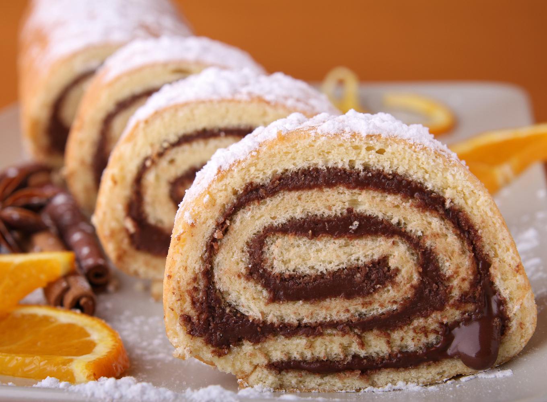 torta de laranja com chocolate