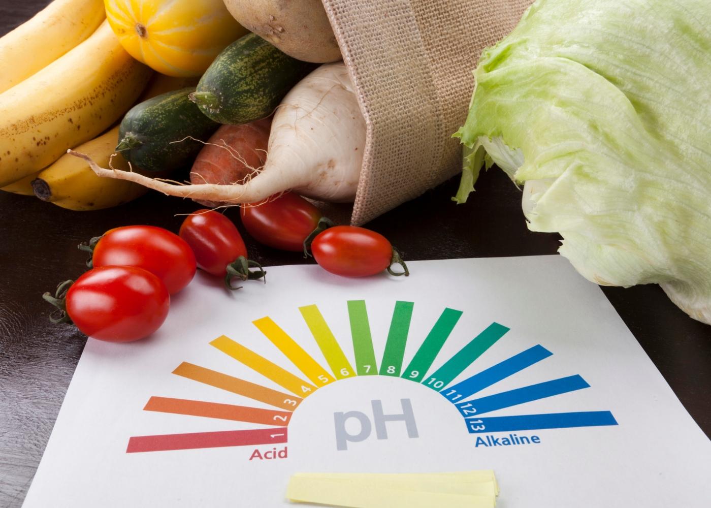 Dietas alcalinas e COVID-19: tabela com pH de alimentos