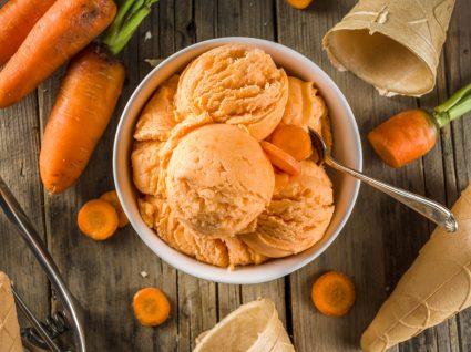 Receitas doces e salgadas com cenoura: bolas de gelado de cenoura