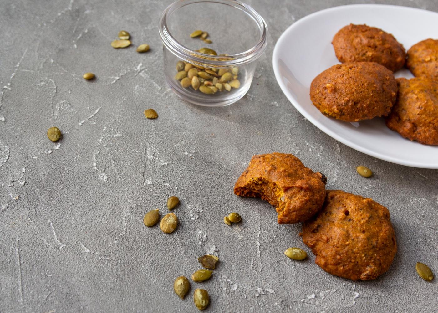 Receitas de snacks à base de hortícolas: bolachas de abóbora