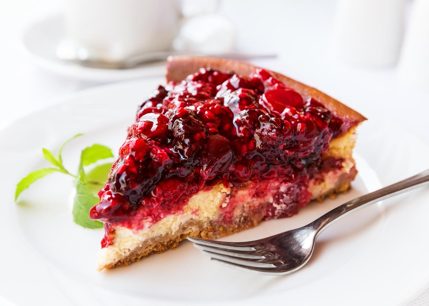 cheesecake de frutos vermelhos saudável