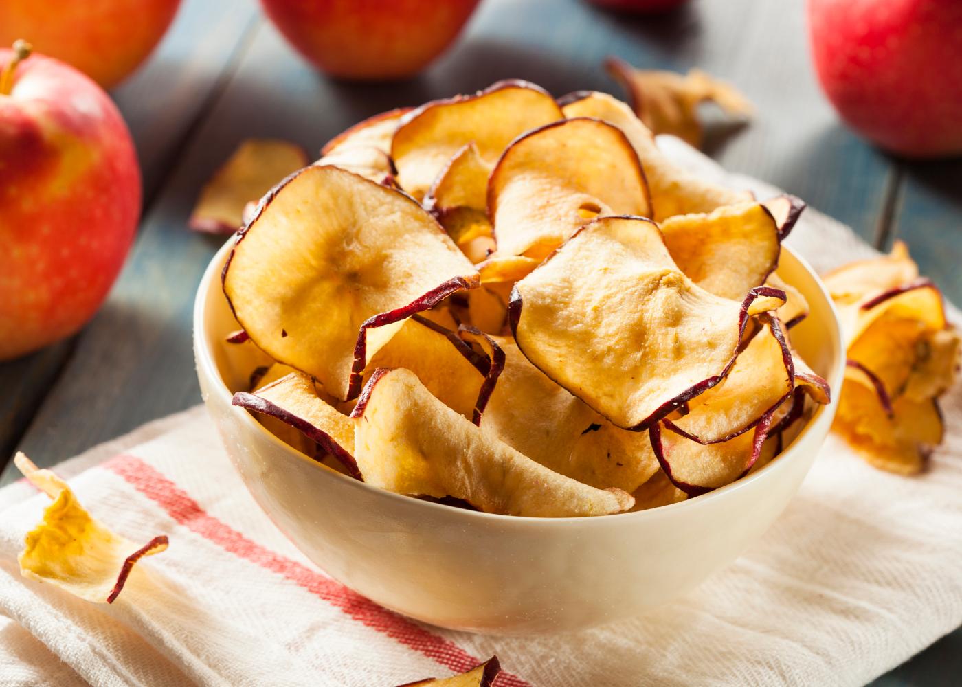 chips de maçã e canela