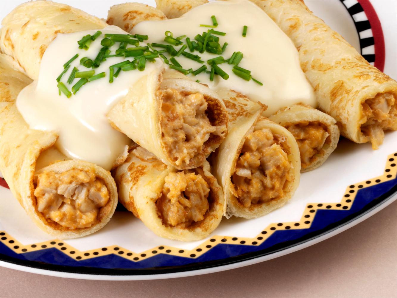 crepioca de frango e queijo