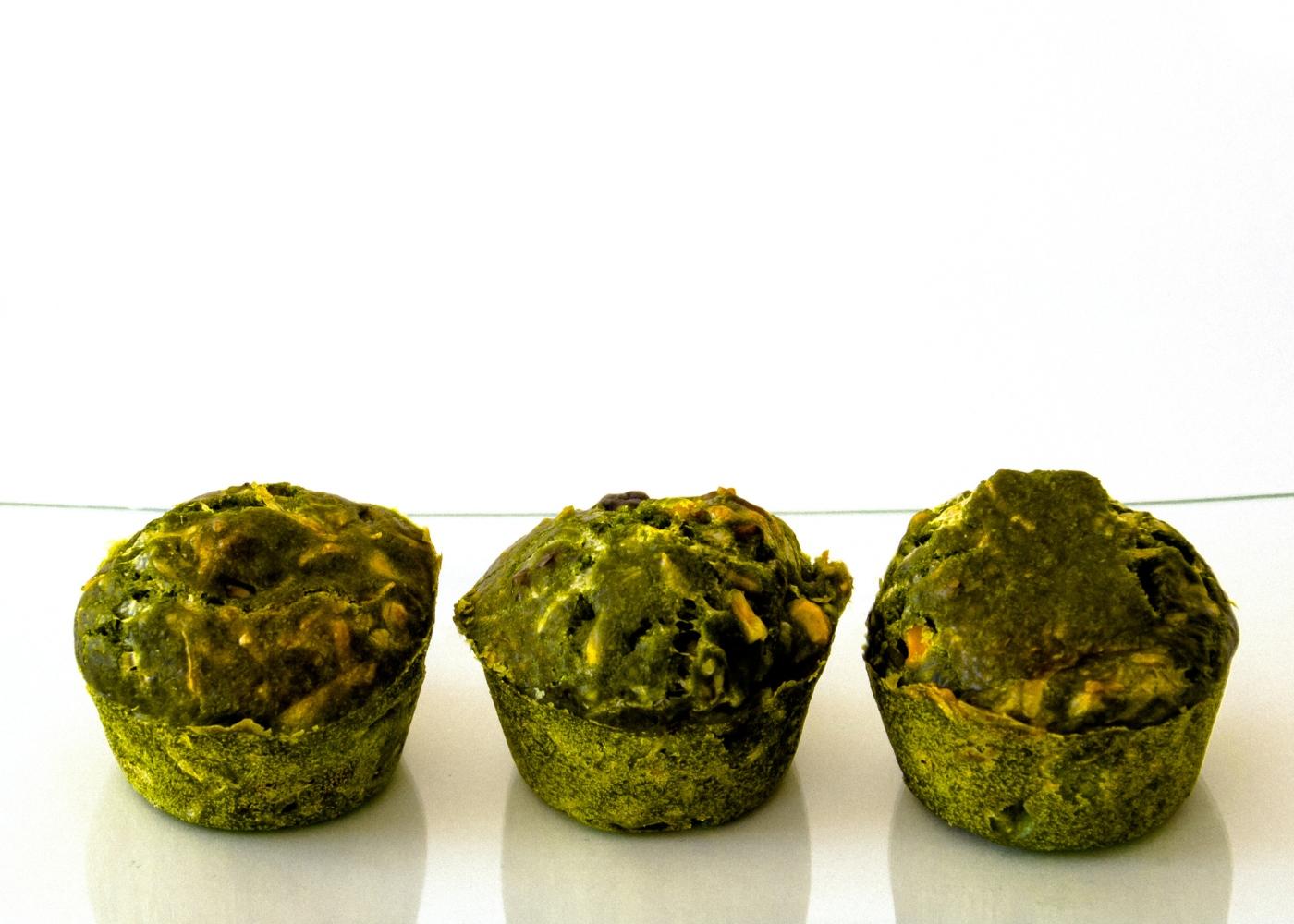 Receitas de snacks à base de hortícolas: muffins de espinafres