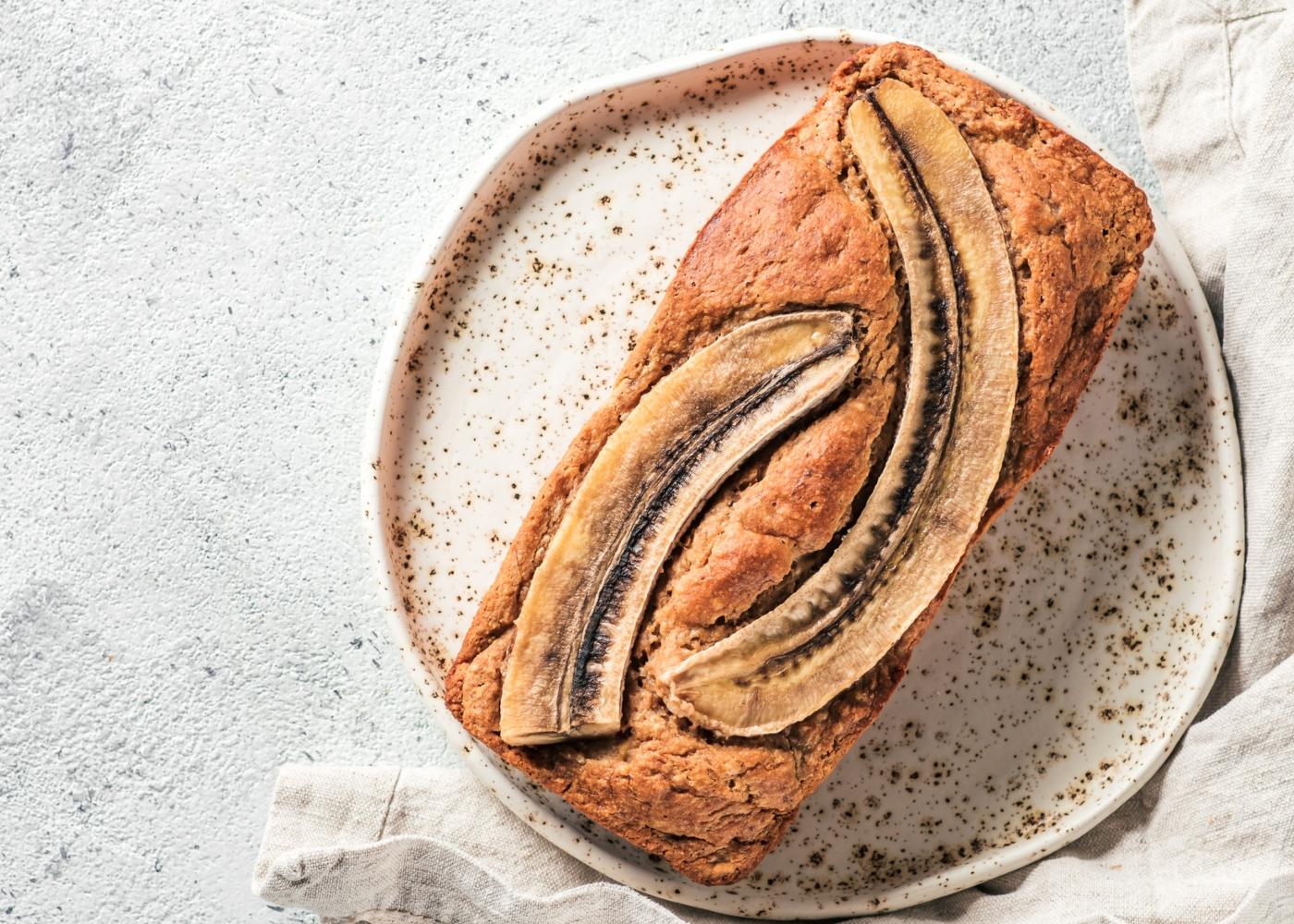 Pão de manteiga de amendoim com banana