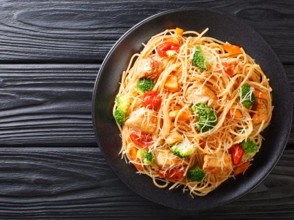 receitas de almoços/jantares pré-treino