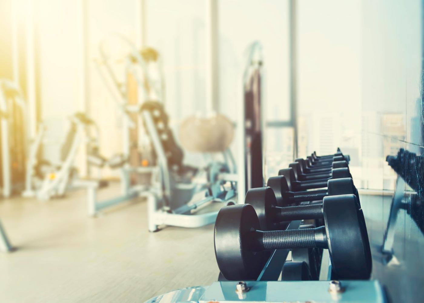 Sala de musculação de ginásio