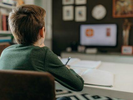 Como promover a concentração durante a telescola: aluno a prestar atenção às aulas pela televisão