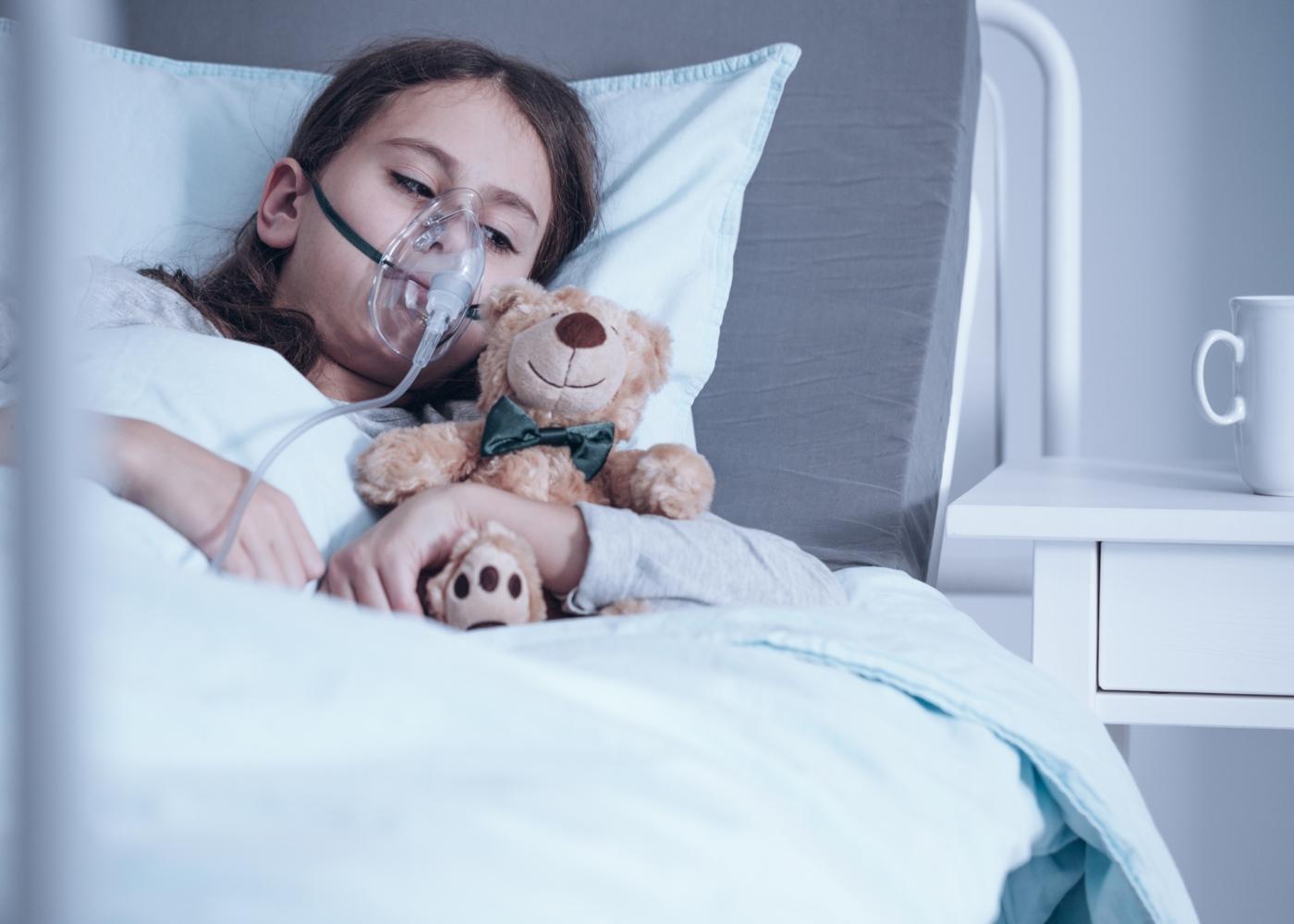 Criança hospitalizada