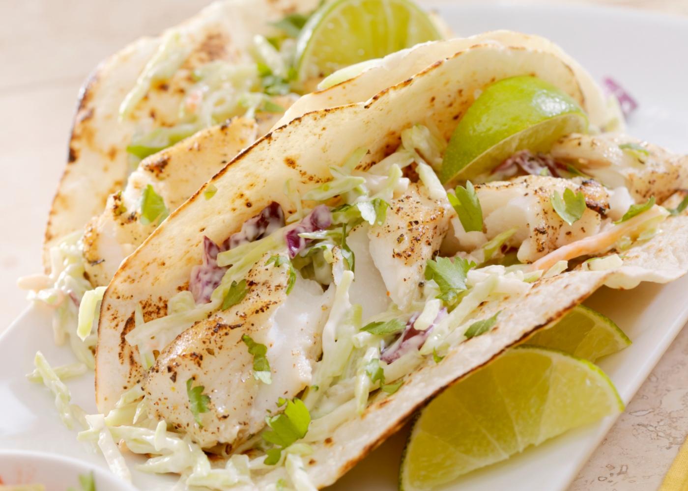 Tacos de peixe simples