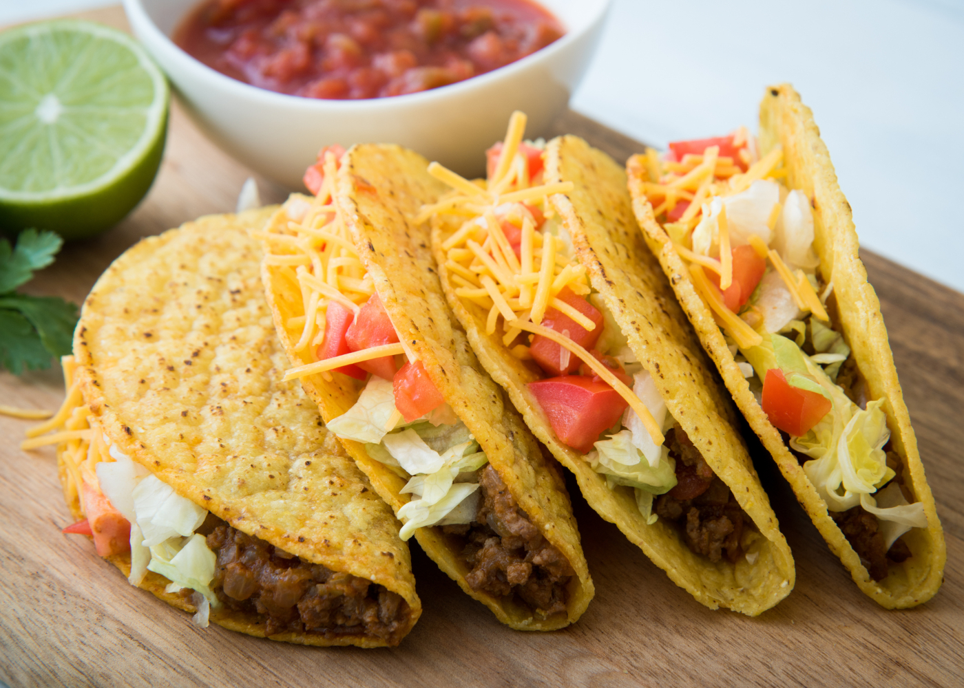 quatro tortilhas de carne mexicanas