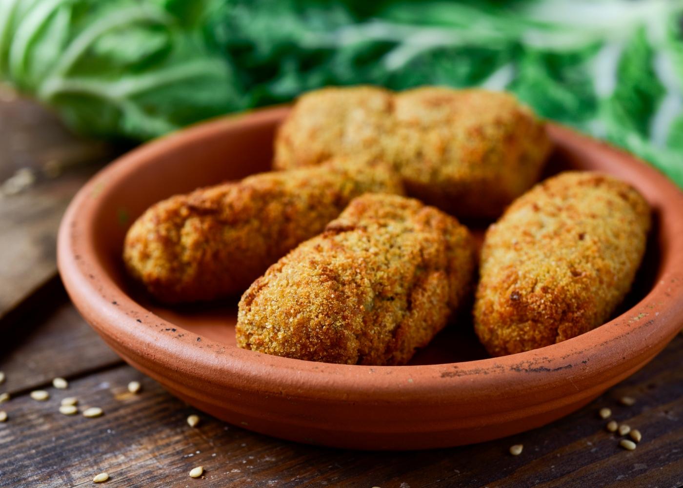 Croquetes vegan de lentilhas