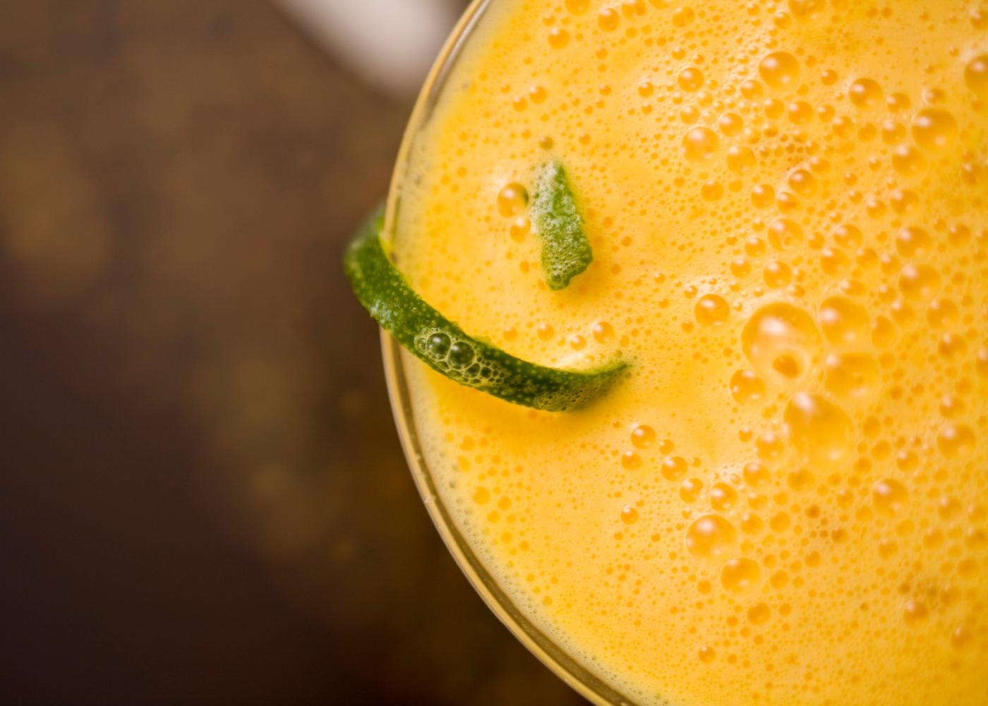 espuma de citrinos no copo
